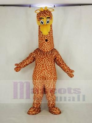 Realistic Giraffe Mascot Costume Cartoon