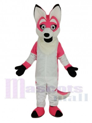 Pink Fox with Long Tail Mascot Costume