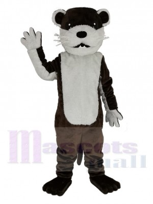 Brown Otter Mascot Costume Animal