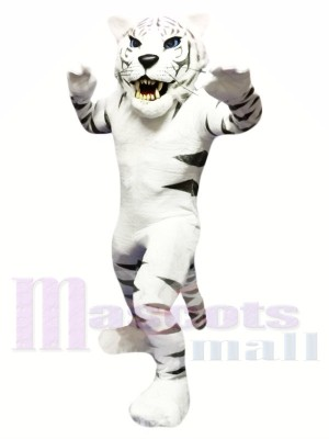 White Tiger Mascot Costume Free Shipping