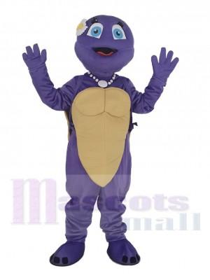 Purple Female Turtle Mascot Costume Animal