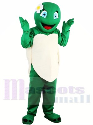Hot Sale Girl Green Tortoise Turtle Mascot Costume Adult School Performance