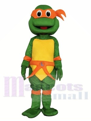 Ninja Turtle Teenage Mascot Costume Orange Michelangelo