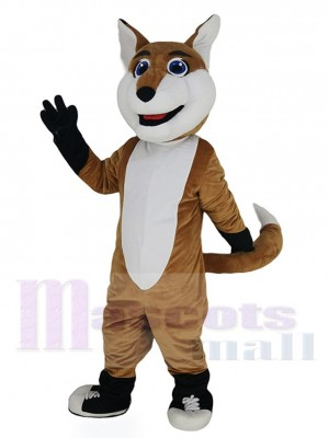 Smiling Fox Mascot Costume Animal