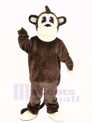 Brown Long Tail Monkey Mascot Costume