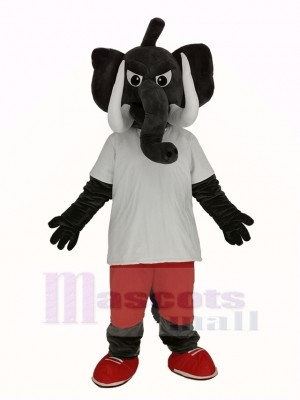 Power Grey Elephant Mascot Costume Animal