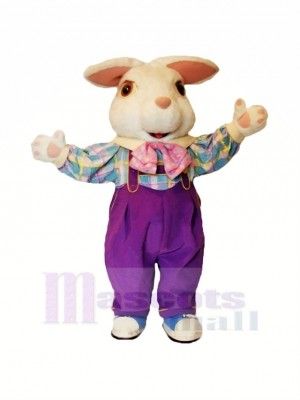 White Furry Easter Bunny Mascot Costumes Cartoon