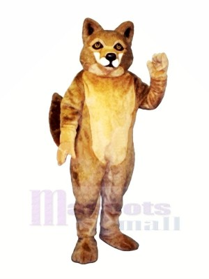 Strong Brown Wolf Mascot Costumes Cartoon