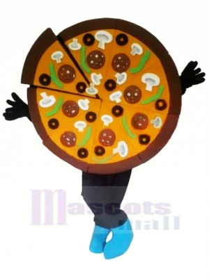 Yummy Pizza Mascot Costume Cartoon