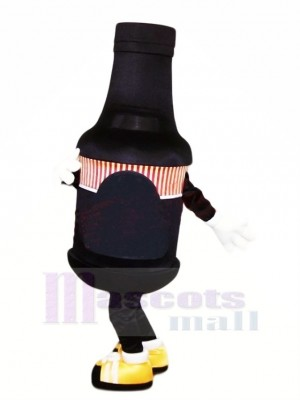 Funny Black Bottle Mascot Costume Cartoon