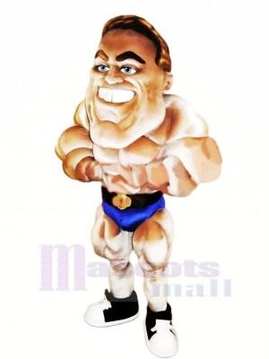 Strong Bodybuilder Mascot Costume Cartoon