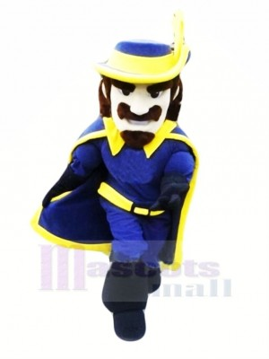 Cavalier in Blue Mascot Costume People