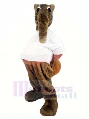 Brown Anteater Mascot Costume Cartoon