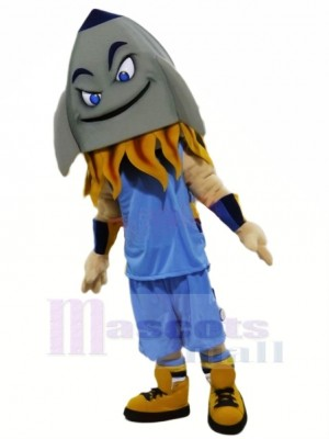 Funny Grey Rocket Mascot Costume Cartoon