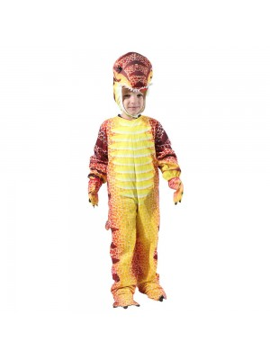 Red T-Rex Dinosaur Costume Dinosaur Jumpsuit Halloween Christmas Dress up Gift for Kid
