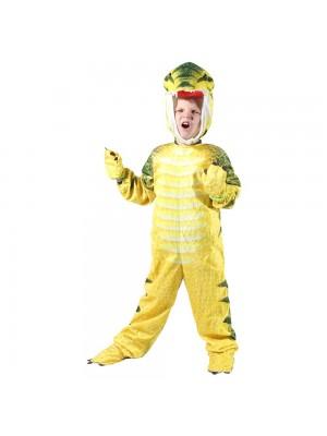 Yellow T-Rex Dinosaur Costume Dinosaur Jumpsuit Halloween Christmas Dress up Gift for Kid