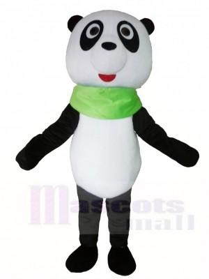 Panda with Green Triangular Mascot Costumes Animal
