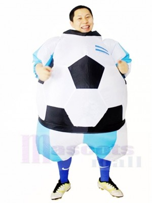 Argentina Football Soccer Inflatable Adult Costumes World Cup Blow Up Carnival Suits