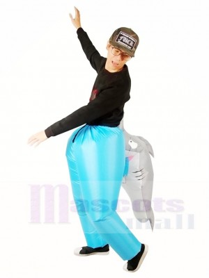 Carry Biting Shark Bites Inflatable Halloween Xmas Costumes for Adults