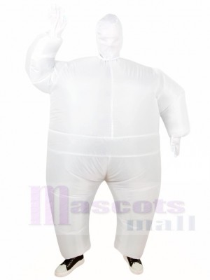 White Full Body Suit Inflatable Halloween Christmas Costumes for Adults