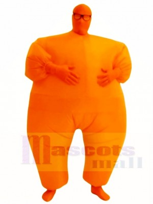Orange Full Body Suit Inflatable Halloween Christmas Costumes for Adults