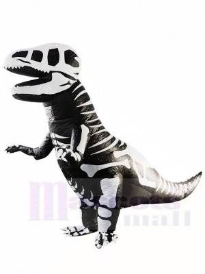 Skeleton T-REX Skull Dinosaur Inflatable Halloween Christmas Costumes for Adults