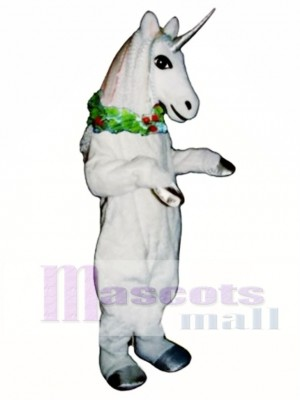 Unicorn with Garland Mascot Costume