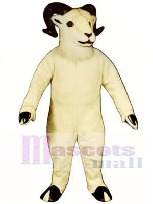 Cute Sheep Big Horned Mascot Costume