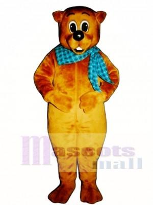 Chuckie Woodchuck with Neckerchief Mascot Costume