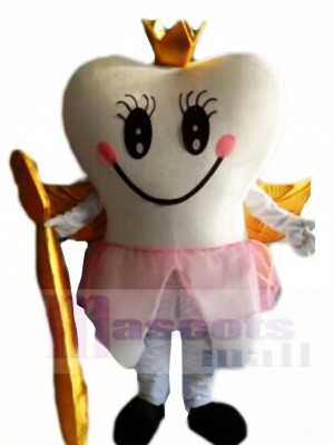 Golden Tooth Fairy Teeth Mascot Costumes