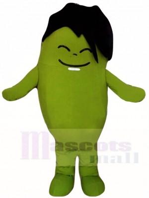 Green Bean Boy Mascot Costumes Vegetable Plant