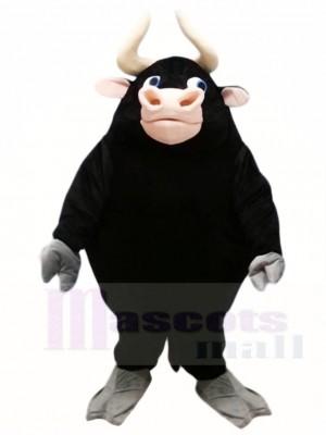 Black Bull Mascot Costumes Farm Animal