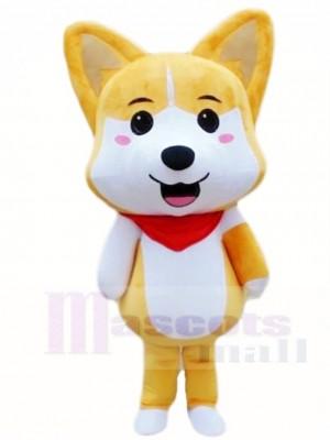 Tan Husky Shiba Inu Lucky Dog Akita Mascot Costumes Animal