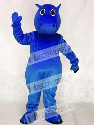 Blue Baby Hippo Mascot Costumes Animal