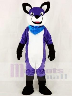 Fursuit Purple Wolf Husky Dog Mascot Costumes Animal