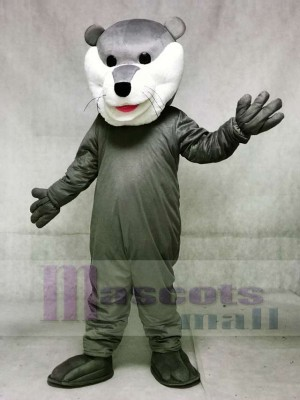 Grey Champ Otter Hockey Mascot Costumes Animal