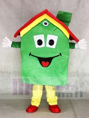 Real Estate Agency Green Housing House Mortgage Mascot Costumes