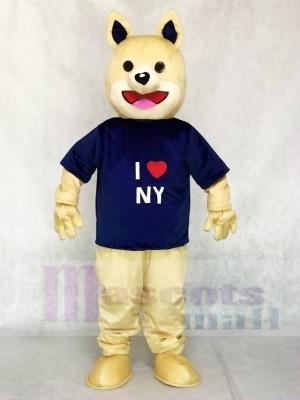 Parky I Love NY Dog Mascot Costumes Animal