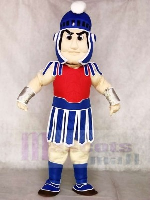 Blue Spartan Trojan Knight Sparty with Red Chest Mascot Costumes