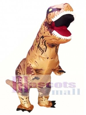 Adult Inflatable T-Rex Tyrannosaurus Costume Dinosaur Halloween Suit Cosplay