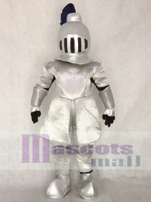 Silver Knight in Shining Armour Mascot Costume