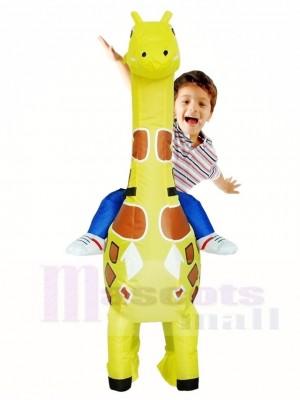 Giraffe Carry me on Christmas Inflatable Halloween Xmas Costumes for Kids
