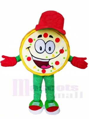 Red Cap Pizza Mascot Costumes Food Snack
