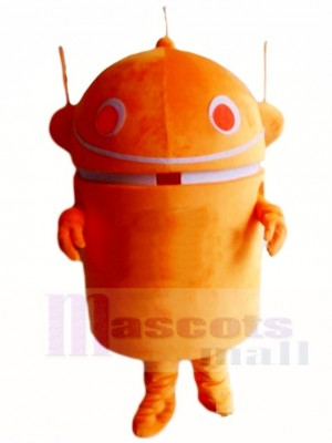 Orange Android Robot Mascot Costumes Cartoon