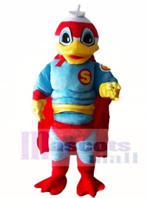 Super Duck Hero with Red Cloak Mascot Costumes