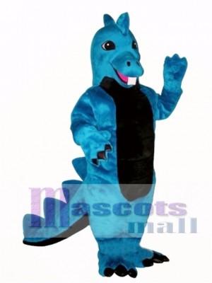 Blue Dino Mascot Costume