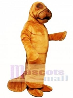 Cute Manny Manatee Mascot Costume