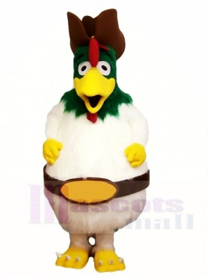 Green Head Rooster Mascot Costumes Animal Poultry Farm