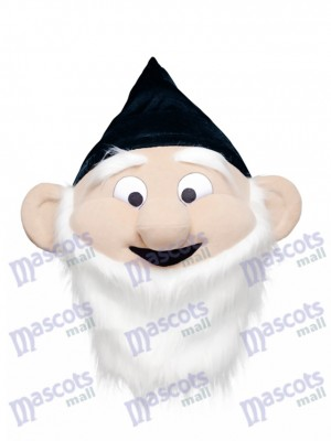 Dwarf Mascot HEAD ONLY in Black Hat