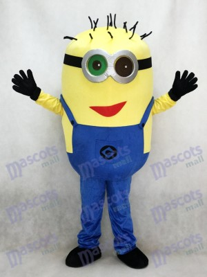 Green and Black Eye Despicable Me Minions with Red Mouth Mascot Costume